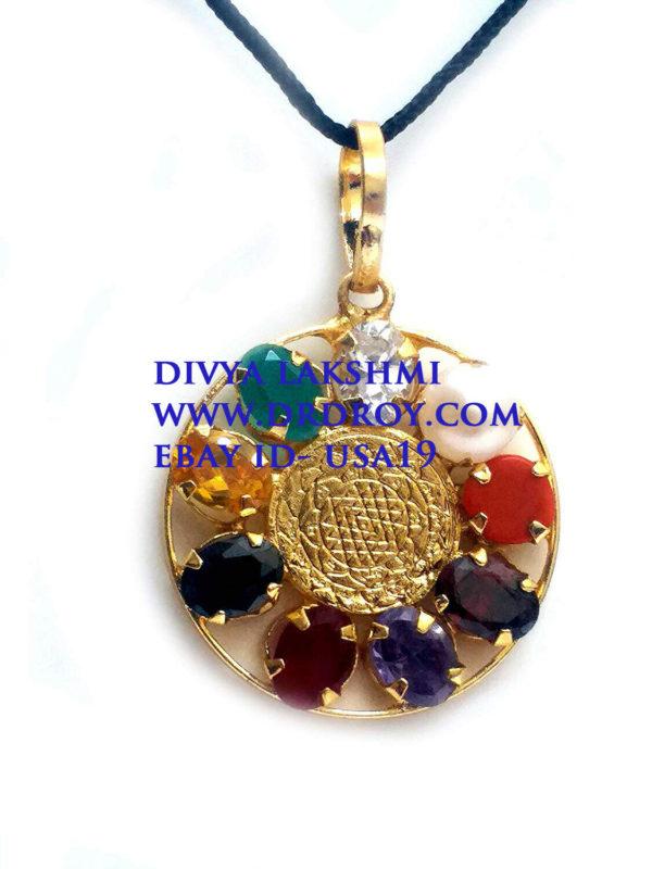 Orgone Sri Yantra Luck Planet Protection Pendant