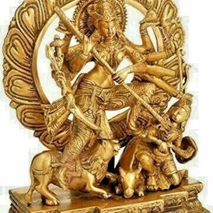 Mahishasuramardini Goddess Durga Brass Statue Activated & Energized